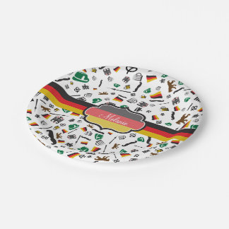 German items with Flag of Germany Paper Plate