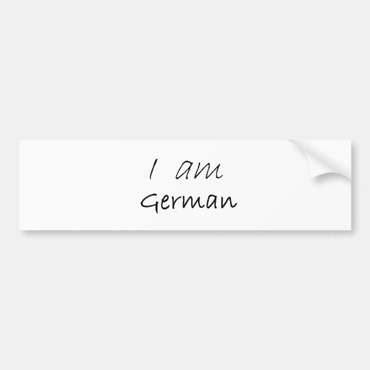 German.jpg Bumper Sticker