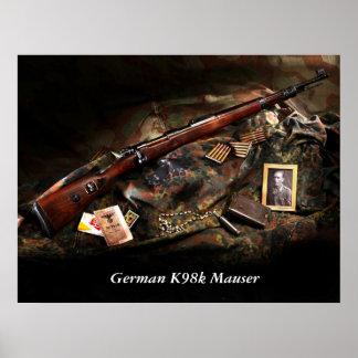 German K98k Mauser Poster