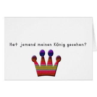 German -King Card