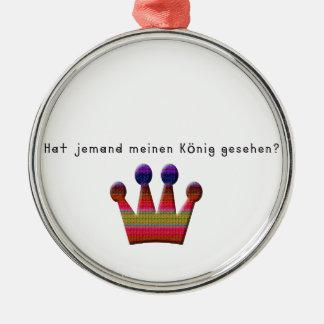 German -King Metal Ornament