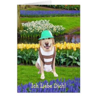 German Lab Valentine Card