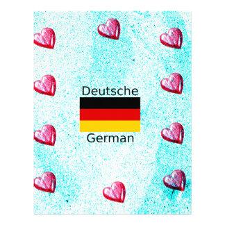 German Language And Flag Design Letterhead