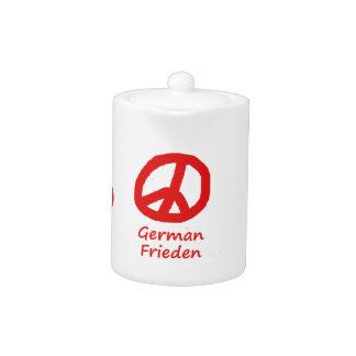 German Language And Peace Symbol Design