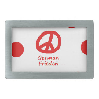 German Language And Peace Symbol Design Belt Buckle