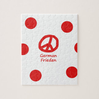 German Language And Peace Symbol Design Jigsaw Puzzle