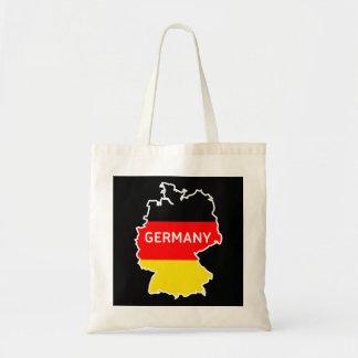 German Map and Flag Tote Bag