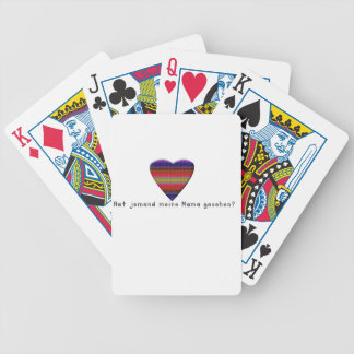 German -Mommy Bicycle Playing Cards