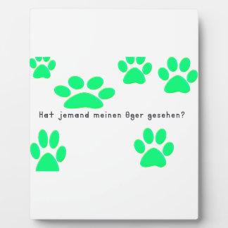 German -Ogre Plaque