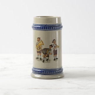 German Oompah Band Gray/Blue 22 oz Stein