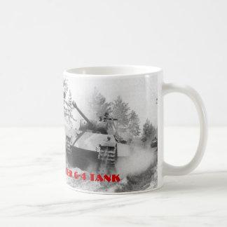 GERMAN PANTHER G-4 TANK CLASSIC WHITE COFFEE MUG