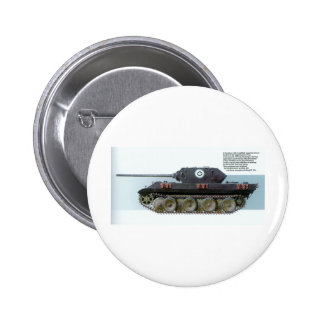 GERMAN PANTHER TANK DISGUISED TO LOOK AMERICAN 2 INCH ROUND BUTTON