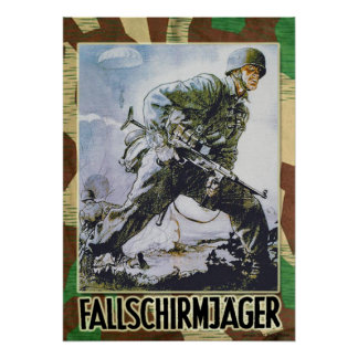German paratrooper poster