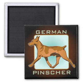 German Pinscher Badge, square Magnet