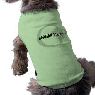 German Pinscher Breed Monogram Pet T Shirt