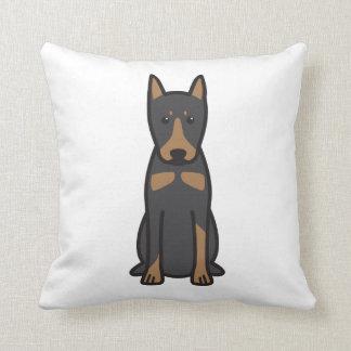 German Pinscher Dog Cartoon Throw Pillow