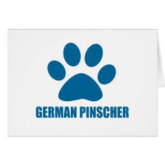 GERMAN PINSCHER DOG DESIGNS CARD
