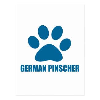 GERMAN PINSCHER DOG DESIGNS POSTCARD