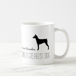 German Pinscher Silhouette with Custom Text Coffee Mug