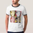 German Pop Art Angela Merkel - - T-Shirt