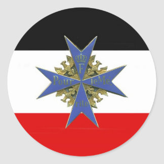 German Pour Le Merit Medal Classic Round Sticker