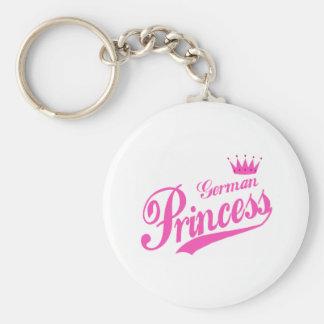 German Princess Basic Round Button Keychain