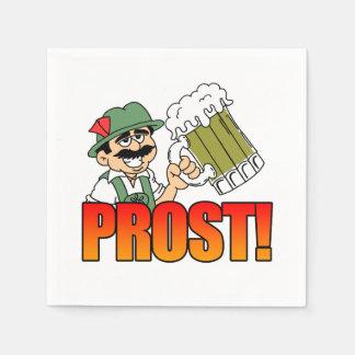 German Prost Party Napkins Cartoon Bier