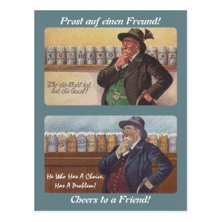 German Proverb Postcrossing Friend Toast Postcard