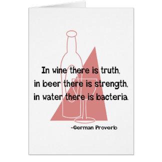 German Proverb -retro Greeting Card