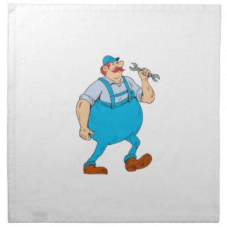 German Repairman Marching Spanner Cartoon Napkin