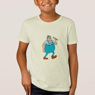 German Repairman Marching Spanner Cartoon T-Shirt