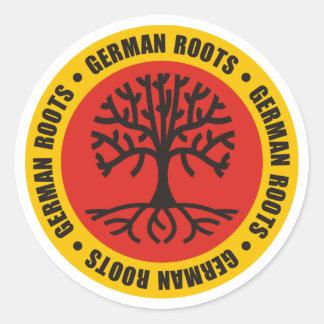 German Roots Classic Round Sticker