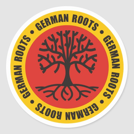 German Roots Classic Round Sticker