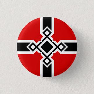 German Rune Cross Badge 1 Inch Round Button