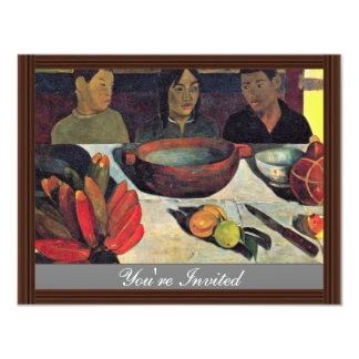 German:'S Meal (Still Life With Bananas), Personalized Invites