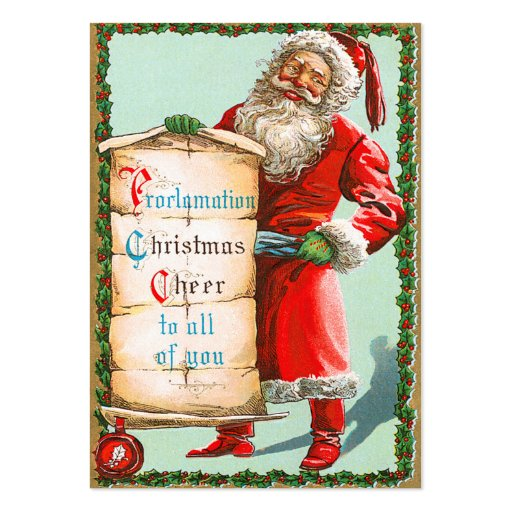 German Santa Christmas Name Tags Business Card Template