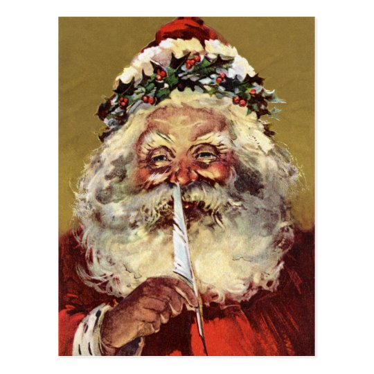 German Santa Vintage Postcards