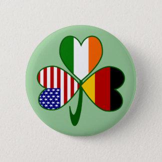 German Shamrock Green Background 2 Inch Round Button