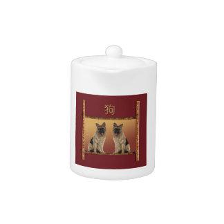 German Shepard Asian Design Chinese New Year, Dog