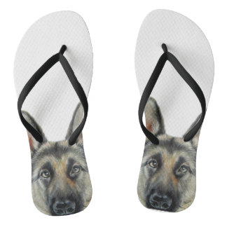 German Shepard by miart Flip Flops
