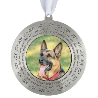 German Shepard Pewter Ornament