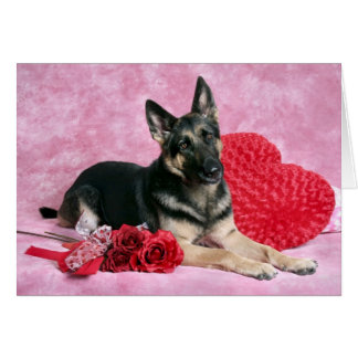 German Shepard Valentine Card