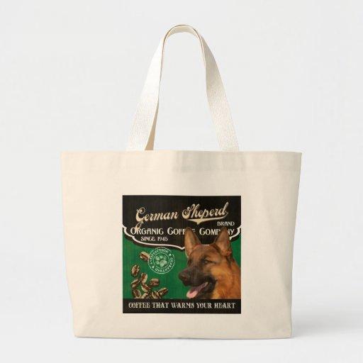 German Sheperd Brand – Organic Coffee Company Tote Bag