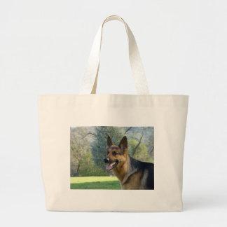 German Shepherd 2 Tote Bag Canvas Beach Bag
