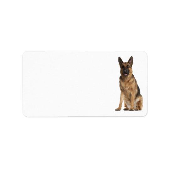 German Shepherd Address Label