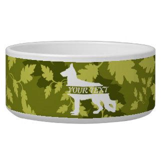 German Shepherd (Alsatian) Camo Dog Bowl