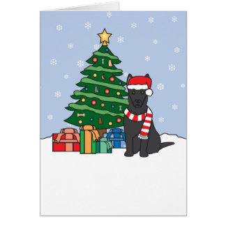 German Shepherd and Christmas Tree Card