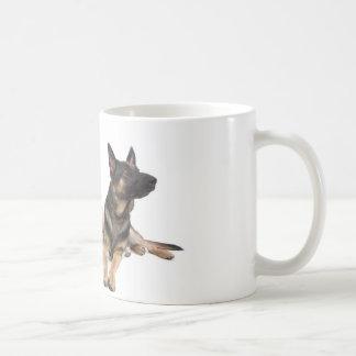 german shepherd and golden retriever basic white mug