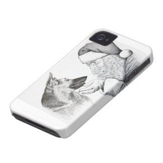 German Shepherd and Santa iPhone 4 Case-Mate Cases