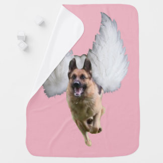 German Shepherd Angel Flying Swaddle Blanket